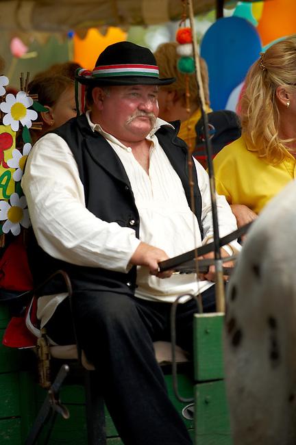 People in traditional Hungarian dress - Annual wine harvest festival ( szuret fesztival ) - Badacsony - Balaton -  Hungary