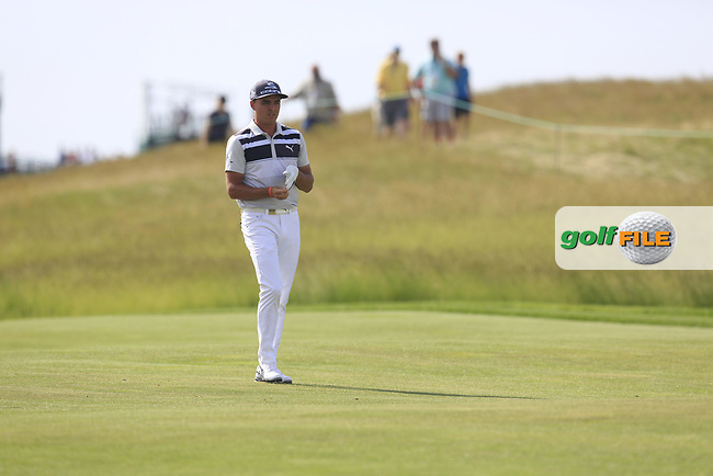 Rickie Fowler (USA) on the 7th hole during Wednesday's Practice Day of the 117th U.S. Open Championship 2017 held at Erin Hills, Erin, Wisconsin, USA. 14th June 2017.<br /> Picture: Eoin Clarke | Golffile<br /> <br /> <br /> All photos usage must carry mandatory copyright credit (&copy; Golffile | Eoin Clarke)