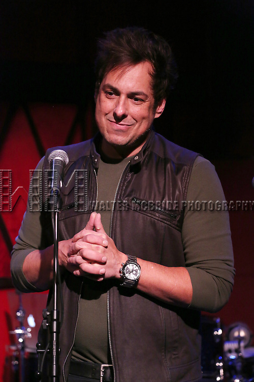 Ray Lepper introduces the  'One Day - The Musical' performing a sneak peek of the new pop-rock Musical at Rockwood Music Hall on January 28, 2015 in New York City.