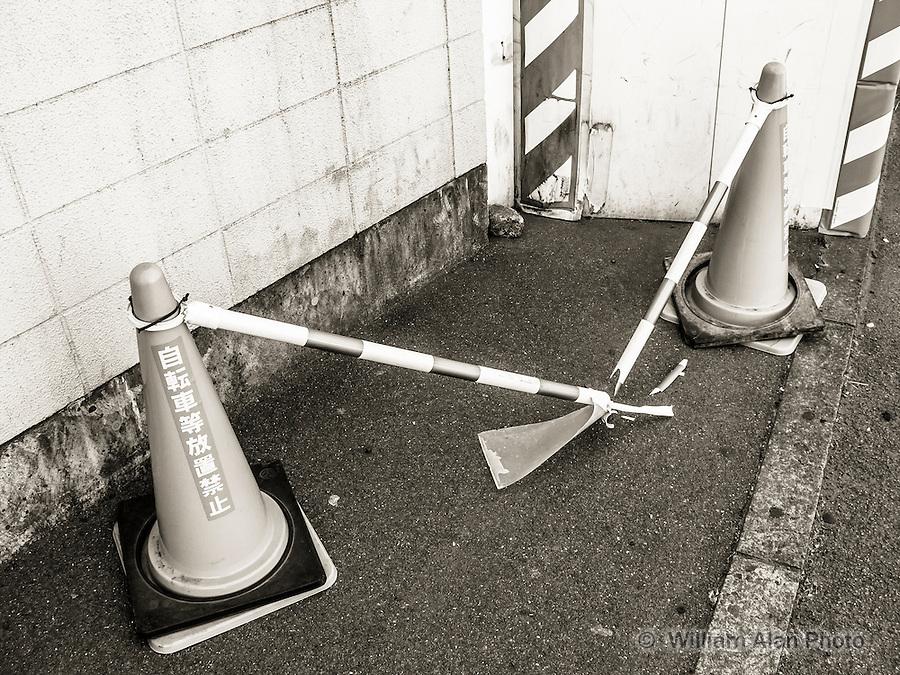 Broken Construction Zone in Ota, Japan 2014.