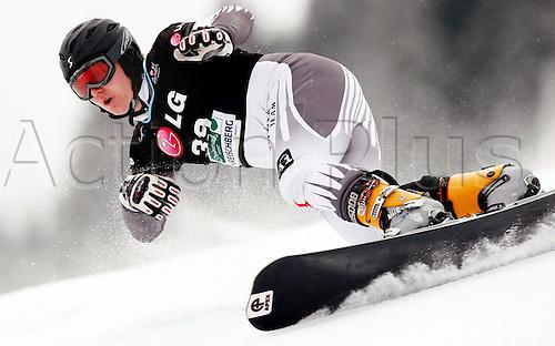 06 01 2010  Snowboarding FIS WC Kreischberg PGS men St Georgen  Murau Austria 06 Jan 10 Snowboarding FIS World Cup Kreischberg In parallel Giant slalom for men Picture shows Stefan Pletzer AUT .