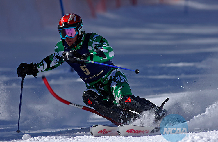 08 MAR 2008:  Dartmouth's David Chodounsky shins a gate during the men's slalom as part of the Division I Men's and Women's Skiing Championships held at Bridger Bowl Ski Area in Bozeman, MT.  Chodounsky placed third in the event.  Sean Sperry/NCAA Photos