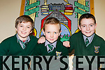 Oisin O'Sullivan, Liam Cronin and Brian Bruton at the renaming of the Monsignor Hugh O'Flaherty hall in his former school Killarney Monastry on Friday
