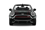 Car photography straight front view of a 2019 MINI Cooper John-Cooper-Works-Convertible Door Convertible Front View