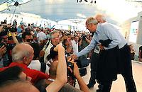 Walter Veltroni saluta la gente<br /> Genova 04-09-2013 Festa Nazionale Partito Democratico<br /> Photo  Genova Foto /Insidefoto