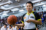 FIBA referee posts for photo with ball during the Asean Basketball League match between Hong Kong Eastern and Singapore Slingers on 09 Janurary 2019, in Hong Kong, Hong Kong. Photo by Yu Chun Christopher Wong / Power Sport Images