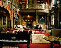 .The Great Hall, Kinloch Castle, island of Rum, Inner Hebrides, western Scotland..