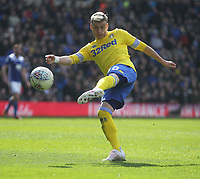 Leeds United's Ezgjan Alioski has a shot on goal<br /> <br /> Photographer Mick Walker/CameraSport<br /> <br /> The EFL Sky Bet Championship - Birmingham City v Leeds United - Saturday 6th April 2019 - St Andrew's - Birmingham<br /> <br /> World Copyright © 2019 CameraSport. All rights reserved. 43 Linden Ave. Countesthorpe. Leicester. England. LE8 5PG - Tel: +44 (0) 116 277 4147 - admin@camerasport.com - www.camerasport.com