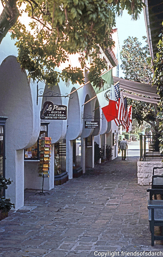 Santa Barbara CA:  El Paseo Shopping Center,1922-23.  Photo 1983.