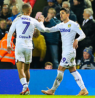 Leeds United's Pablo Hernandez celebrates scoring his side's second goal with teammate Kemar Roofe<br /> <br /> Photographer Alex Dodd/CameraSport<br /> <br /> The EFL Sky Bet Championship - Leeds United v Bristol City - Saturday 24th November 2018 - Elland Road - Leeds<br /> <br /> World Copyright &copy; 2018 CameraSport. All rights reserved. 43 Linden Ave. Countesthorpe. Leicester. England. LE8 5PG - Tel: +44 (0) 116 277 4147 - admin@camerasport.com - www.camerasport.com