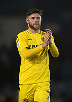 Fleetwood Town's Wes Burns applauds the fans at the final whistle <br /> <br /> Photographer David Horton/CameraSport<br /> <br /> The EFL Sky Bet League One - Portsmouth v Fleetwood Town - Tuesday 10th March 2020 - Fratton Park - Portsmouth<br /> <br /> World Copyright © 2020 CameraSport. All rights reserved. 43 Linden Ave. Countesthorpe. Leicester. England. LE8 5PG - Tel: +44 (0) 116 277 4147 - admin@camerasport.com - www.camerasport.com