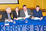 MEETING: Attending a protest meeting on Monday evening at the Brandon Conference Centre were members of the Blennerville new school committee l-r: Fr Michael O'Leary (School board member), Liz Furlong (Parents council), Michael O'Connor (Principal) and Pat O'Brien (Parents council).   Copyright Kerry's Eye 2008