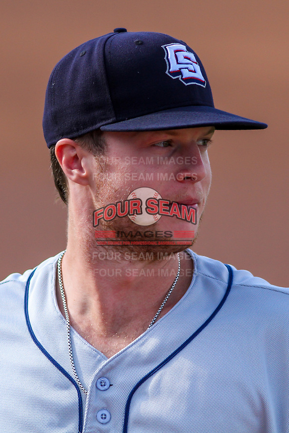Colorado Springs Sky Sox outfielder Brett Phillips (8) prior to game one of a Pacific Coast League doubleheader against the Iowa Cubs on August 17, 2017 at Principal Park in Des Moines, Iowa. Iowa defeated Colorado Springs 1-0. (Brad Krause/Four Seam Images)