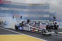 Jun. 1, 2012; Englishtown, NJ, USA: NHRA top fuel dragster driver Antron Brown during qualifying for the Supernationals at Raceway Park. Mandatory Credit: Mark J. Rebilas-