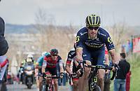 Mathew Haymen (AUS/Orica-Scott) on the Oude Kwaremont<br /> <br /> 72nd Dwars Door Vlaanderen (1.UWT)<br /> 1day race: Roeselare &rsaquo; Waregem BEL (203.4km)
