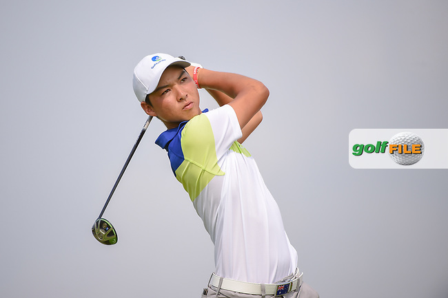 Min Woo LEE (AUS) watches his tee shot on 6 during Rd 3 of the Asia-Pacific Amateur Championship, Sentosa Golf Club, Singapore. 10/6/2018.<br /> Picture: Golffile   Ken Murray<br /> <br /> <br /> All photo usage must carry mandatory copyright credit (© Golffile   Ken Murray)