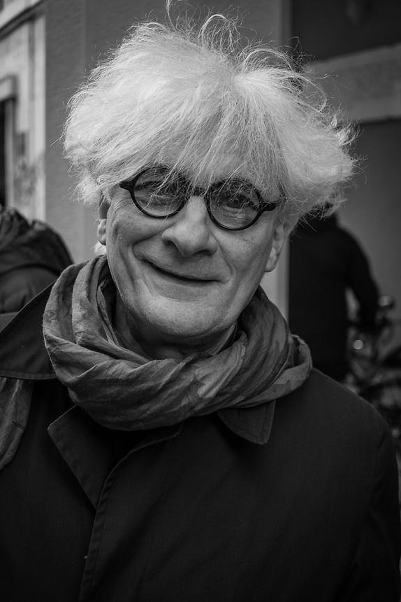 Bologna 11 marzo 2017. Qurant'anni dopo gli autonomi e i movimenti studenteschi ricordano la morte di Pier Francesco Lorusso ucciso da un Carabiniere durante gli scontri del 1977.<br /> Franco Berardi, detto &quot;Bifo&quot; fu uno dei protagonisti di quel periodo, fu tra i fondatori di Radio Alice.