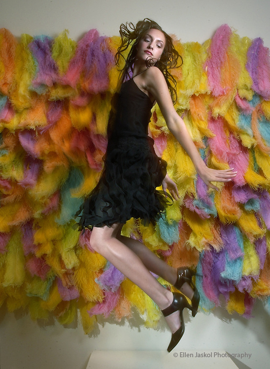A short and flirty black dress is perfect for cocktails. Dress by  Betsey Johnson ($270) at Betsey Johnson, Cherry Creek Shopping Center. Pucci  L'Amour hand-dyed ostrich plumes on cotton organdy by Mary Ehrin. By Ellen  Jaskol/Rocky Mountain News..