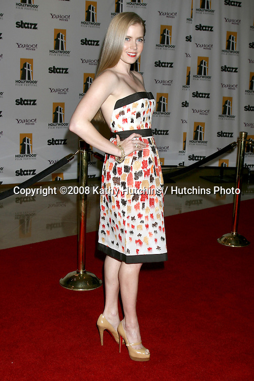 Amy Adams arriving to the Hollywood Film Festival Awards Gala at the Beverly Hilton Hotel in Beverly Hills, CA  on.October 27, 2008.©2008 Kathy Hutchins / Hutchins Photo...                .