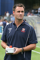 Stefan Oakes of Lincoln City, former Leicester City player during Wycombe Wanderers vs Lincoln City, Coca Cola League Division Two Football at Adams Park on 23rd August 2008