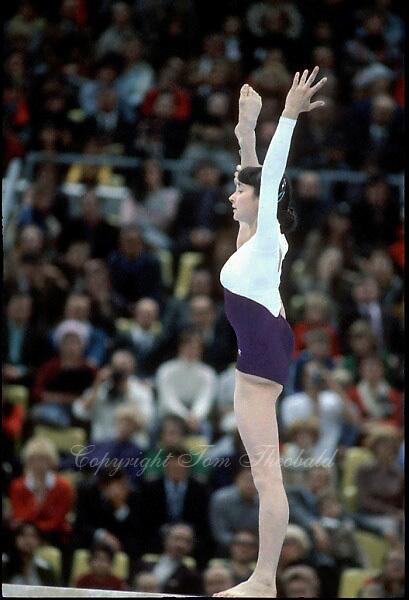 November 23, 1981; Moscow, Soviet Union; Artistic gymnast Svetlana Grozdova of Soviet Union performs balance beam exhibition at finish of 1981 World Championships in Moscow, Soviet Union..(©) Copyright 1981 Tom Theobald..