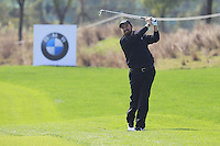 Shane Lowry (IRL) plays his 2nd shot on the 9th hole during Sunday's Final Round of the 2014 BMW Masters held at Lake Malaren, Shanghai, China. 2nd November 2014.<br /> Picture: Eoin Clarke www.golffile.ie