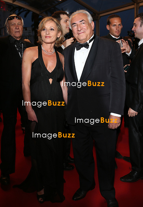 "Dominique Strauss-Kahn and Myriam L'Aouffir attend the "" Only Lovers Left Alive "" premiere during The 66th Annual Cannes Film Festival at the Palais des Festivals on May 25, 2013 in Cannes, France."