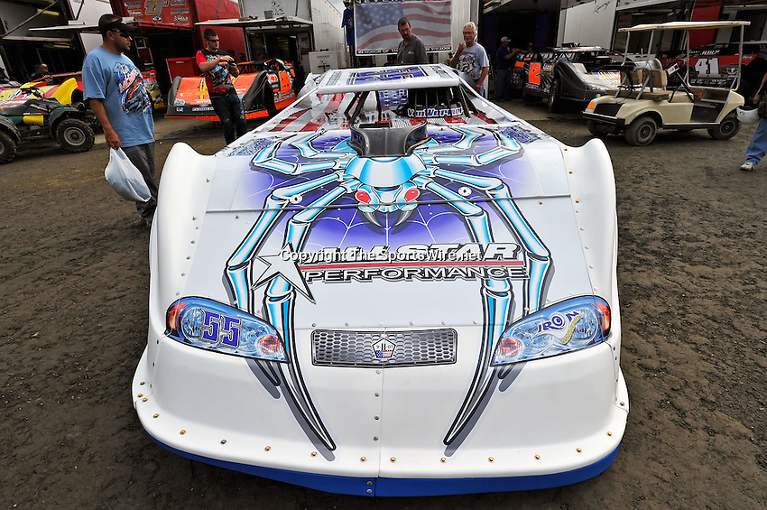 Sep 9, 2011; 4:44:05 PM; Rossburg, OH., USA; The 41st annual running of the World 100 Dirt Late Models racing for the Globe trophy at the Eldora Speedway.  Mandatory Credit: (thesportswire.net)