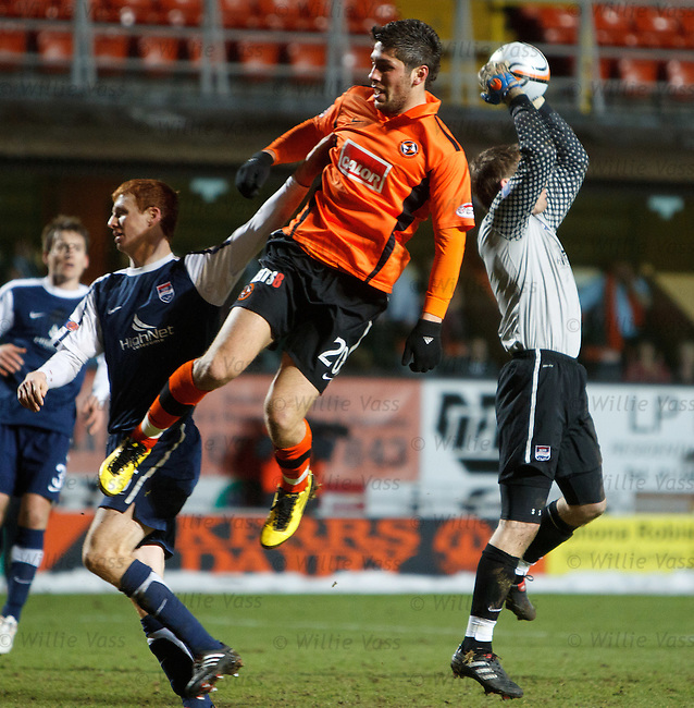 Andis Shala thwarted by Scott Boyd and County keeper Michael McGovern