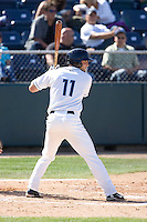 July 18, 2010: Everett AquaSox's Evan Sharpley (11) at-bat during a Northwest League game against the Eugene Emeralds at Everett Memorial Stadium in Everett, Washington.