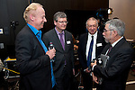 Belgium, Brussels - April 16, 2015 -- European Dialogue 2015: 'Prosperity in Europe (only if we stop the growing inequality)', jointly held by Hans Böckler Foundation and ETUI (European Trade Union Institute) at 'The Hotel'; here, N.N. (le); Prof. Paul Krugman (ri), Princeton University and Nobel Prize winner 2008; László Andor (2.le), EU Commissioner for Employment, Social Affairs and Inclusion 2010-2014; Prof. Dr. Gustav A. Horn (2.ri) -- Photo © HorstWagner.eu
