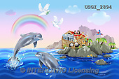 GIORDANO, CUTE ANIMALS, LUSTIGE TIERE, ANIMALITOS DIVERTIDOS,dolphins,island,puzzles, paintings+++++,USGI2894,#AC# ,everyday