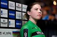 Picture by Alex Whitehead/SWpix.com - 01/03/2018 - Cycling - 2018 UCI Track Cycling World Championships, Day 2 - Omnisport, Apeldoorn, Netherlands - Robyn Stewart of Ireland prepares to compete in the Women's Sprint qualification.