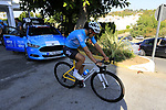 Gergio Luis Henao (COL) Team Sky heads out for a morning training ride before Stage 1 of the La Vuelta 2018, an individual time trial of 8km running around Malaga city centre. Mijas, Spain. 23rd August 2018.<br /> Picture: Eoin Clarke | Cyclefile<br /> <br /> <br /> All photos usage must carry mandatory copyright credit (&copy; Cyclefile | Eoin Clarke)