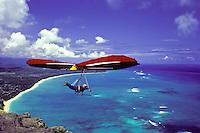 Hangliding over Makapuu Oahu.