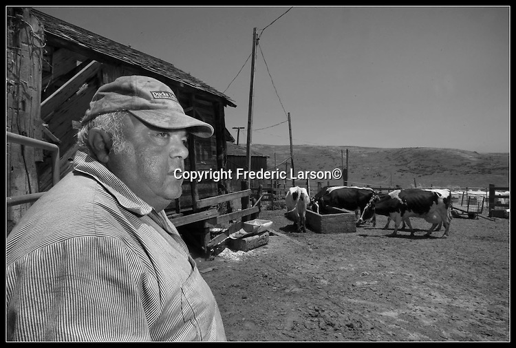 Joe Giacomini the dairy farmer sobbed as he described losing the ranch that had been in his family for generations...