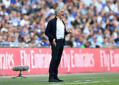 19th May 2018, Wembley Stadium, London, England; FA Cup Final football, Chelsea versus Manchester United; Manchester Untied Manager Jose Mourinho shouting at his players from the touchline as they struggle to break through
