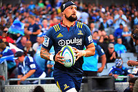 Elliot Dixon leads the Highlanders out for the Super Rugby match between the Blues and Highlanders at Eden Park in Auckland, New Zealand on Saturday, 11 March 2017. Photo: Dave Lintott / lintottphoto.co.nz