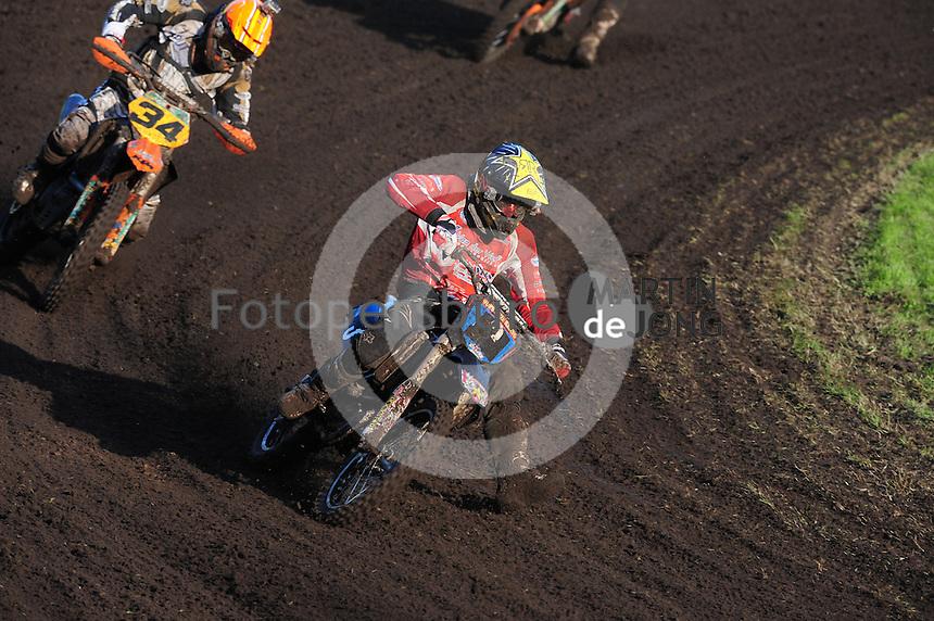 MOTORSPORT: JOURE: De Nutsbaan, MC Flying Boetoe, 12-05-2012, ONK Grasbaan wedstrijden, Boetoe Klasse, Hessel de Ree (#3), ©foto Martin de Jong