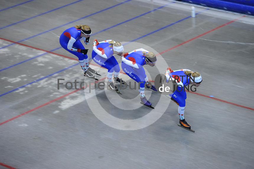 SCHAATSEN: HEERENVEEN: IJsstadion Thialf, 03-06-2013, training merkenteams op zomerijs, ©foto Martin de Jong