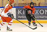 06.01.2020, BLZ Arena, Füssen / Fuessen, GER, IIHF Ice Hockey U18 Women's World Championship DIV I Group A, <br /> Japan (JPN) vs Daenemark (DEN), <br /> im Bild Natasja Holm (DEN, #19), Azuki Ushio (JPN, #24)<br /> <br /> Foto © nordphoto / Hafner