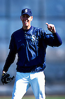 Ryan Anderson of the Seattle Mariners participates in a Major League Baseball Spring Training game during the 1998 season in Phoenix, Arizona. (Larry Goren/Four Seam Images)