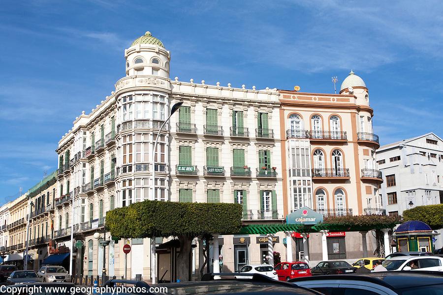 Melilla autonomous city state Spanish territory in north Africa, Spain -modernist architecture