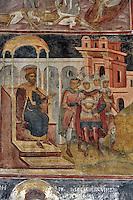 BG61231.JPG BULGARIA, BLACK SEA COAST, NESSEBAR, CHURCH OF ST STEPHAN, 10TH CENTURY, FRESCOS