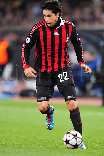 8 December, 2009 - AC Milan's Marco Borriello in action during UEFA Champions League qualifiers at Stadion Letzigrund in Zurich, Switzerland.  At the end of the match it was tied 1-1 but AC Milan will advance to the next round. Photo by John C Middlebrook/actionplus. UK Licenses Only