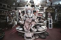 A curio shop at Mattancherry, Fort Kochi, Ernakulam, Kerala, india..