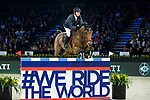 Patrice Delaveau of France riding Vestale de Mazure Hdc competes in the Longines Speed Challenge during the Longines Masters of Hong Kong at AsiaWorld-Expo on 10 February 2018, in Hong Kong, Hong Kong. Photo by Ian Walton / Power Sport Images