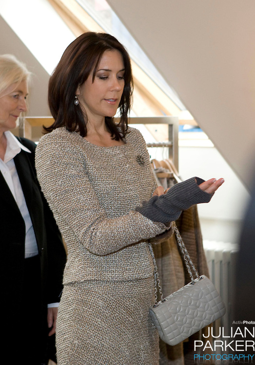 Crown Prince Frederick and Crown Princess Mary of Denmark begin a four day official visit to Iceland, Crown Princess Mary visits, Kraum, a centre for Icelandic Design, in Reykjavik, accompanied  by The President of Iceland's wife Dorrit Moussaieff