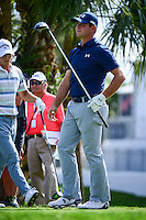 Gary Woodland  (USA) watches his tee shot on 18 during round 1 of the Honda Classic, PGA National, Palm Beach Gardens, West Palm Beach, Florida, USA. 2/23/2017.<br /> Picture: Golffile | Ken Murray<br /> <br /> <br /> All photo usage must carry mandatory copyright credit (&copy; Golffile | Ken Murray)