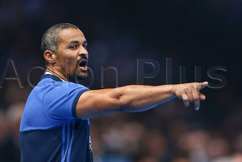 11.01.2017. Accor Arena, Paris, France. 25th World Handball Championships France versus Brazil. Didier Dinart (trainer coach France)